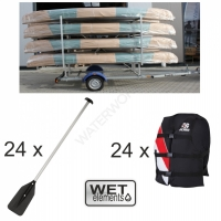 WET-Elements Kanu-Trailer-Kit für 8 WestLake III mit...
