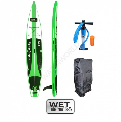 WET-Elements SUP Flying Dragon 14.0  (inkl. Pumpe, Packsack & Reparaturset)