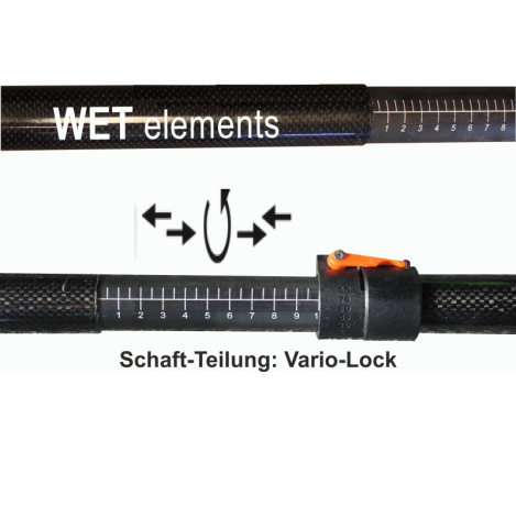 WET-Elements Tourenpaddel Aphia vierteilig verstellbar 215-240 cm